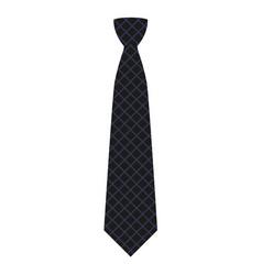 black tie icon flat style vector image