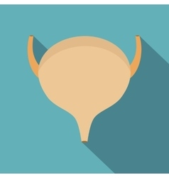Bladder icon flat style vector