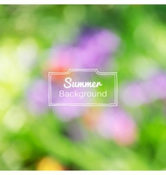 Blurred nature summer green background vector
