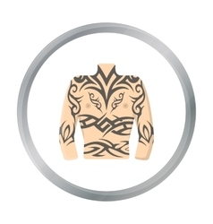Body tattoo icon cartoon Single tattoo icon from vector image