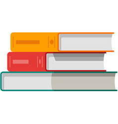 Book stack isolated school library textbook vector