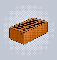 Brick pop art vector