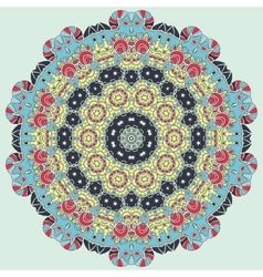 Bright coloured seamless mandala vector image