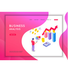 business analysis concept graphic and audit vector image
