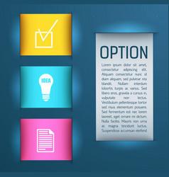 business digital infographics vector image