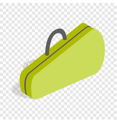 Case for tennis rackets isometric icon vector