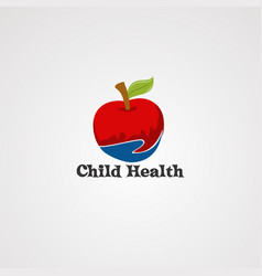 child healthy care logo icon element and vector image