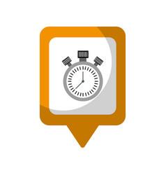 Chronometer social media square pointer web vector