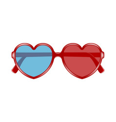 Cinema glasses in shape of heart vector