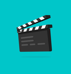 Clapperboard isolated flat vector