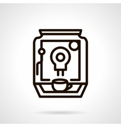 Coffee making appliance black line icon vector