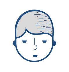 contour happy boy head delivery man vector image