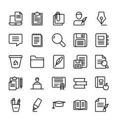 Copywriting line icons set vector