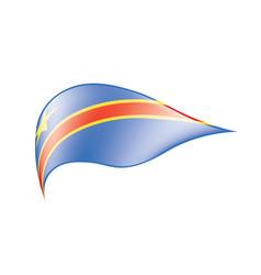 Democratic republic of the congo flag vector