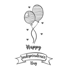 Design independence day hand draw vector