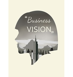 Double exposure for business vision vector image