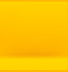 Empty yellow studio background vector