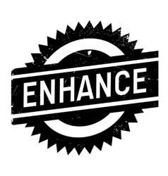 Enhance stamp rubber grunge vector image
