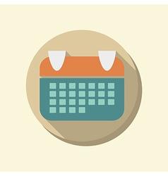 Flat circle web icon calendar vector