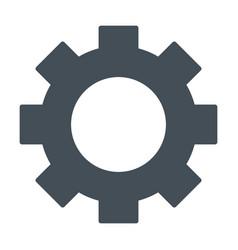 gear wheel silhouette icon cog symbol vector image