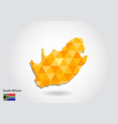 geometric polygonal style map of south african vector image