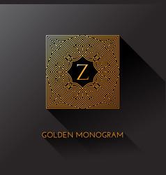 Golden monogram vector
