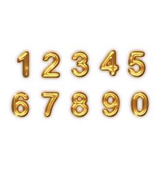 Golden numbers set realistic 3d vector