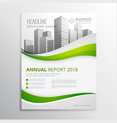 green real estate business brochure template vector image