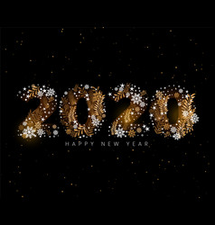 Happy new year 2020 creative decorative wallpaper vector