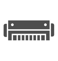 Harmonica glyph icon music and blues instrument vector