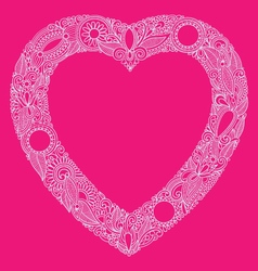 hearts doodle vector image