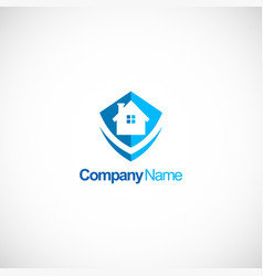 home protec business logo vector image