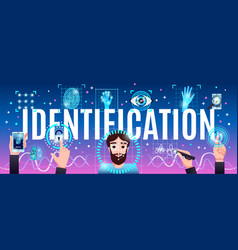 Identification technologies header vector