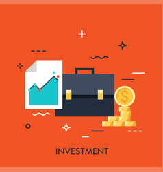 investment flat concept vector image
