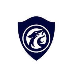 jaguar shield guard power protection logo icon vector image