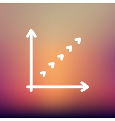 Letter L logo arrow thin line icon vector image