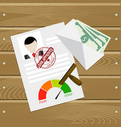 Loan approved customer document vector