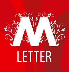Logo letter m with vegetable patterns vector