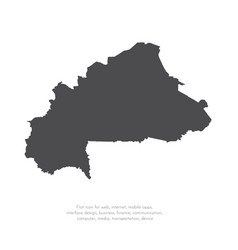 map burkina faso isolated vector image
