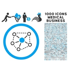 Molecule Links Rounded Icon With Medical Bonus vector image