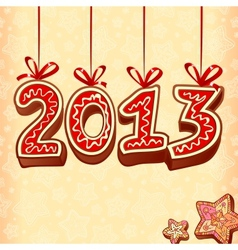 New Year sign 2013 christmas sweets vector