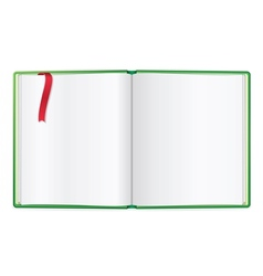 Opened book blank vector image