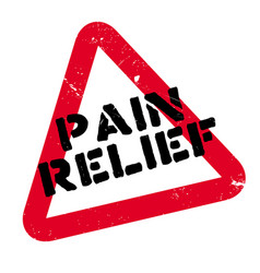 pain relief rubber stamp vector image