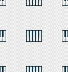 piano key icon sign Seamless pattern with vector image