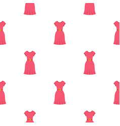 Pink dress pattern seamless vector