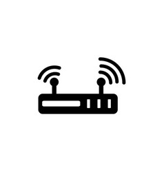router icon in flat style for apps ui websites vector image