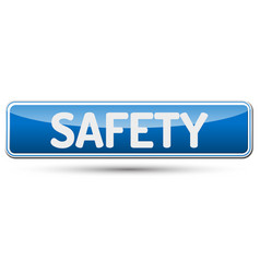 safety - abstract beautiful button with text vector image