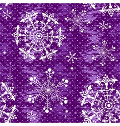 Seamless violet christmas grunge pattern vector