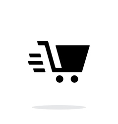 Shopping cart simple icon on white background vector