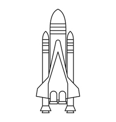 Shuttle icon outline style vector image